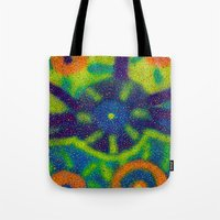 blueprint Tote Bags featuring Galatic Blueprint by Jason Neves