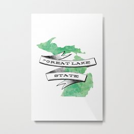The Great Lake State III Metal Print
