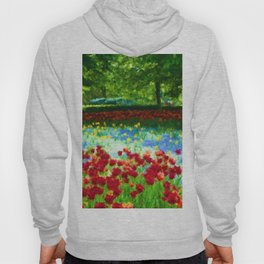 Colorful Impressionist Flower Field - II Hoody