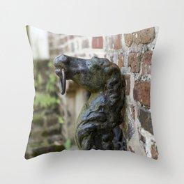 Charleston Hitching Post Throw Pillow