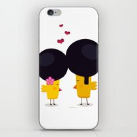 afro iPhone & iPod Skins featuring Afro Love by Piktorama