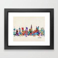 Columbus Ohio skyline Framed Art Print