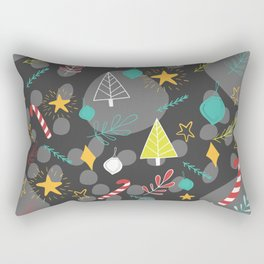 'Christmas' pattern print Rectangular Pillow