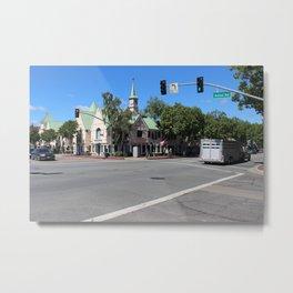 Alisal Rd Street Scene Solvang CA Metal Print