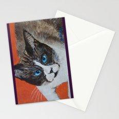 Rastus the Snowshoe cat Stationery Cards