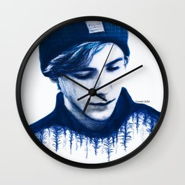 SKAM lost and found (blue) Wall Clock