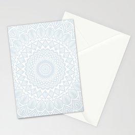 Minimal Minimalistic Light Cool Gray Mandala Stationery Cards