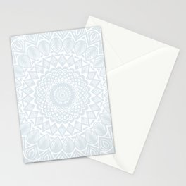 Minimal Minimalistic Light Cool Gray Mandala Stationery Cards
