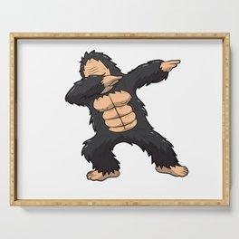 Dabbing Gorilla Shirt Ape Monkey Big Foot Dab Kids Serving Tray