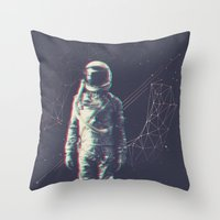 spaceman Throw Pillows featuring Spaceman by Aeodi Graphics