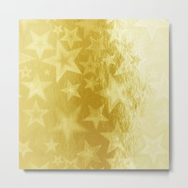 Golden Starshine Metal Print