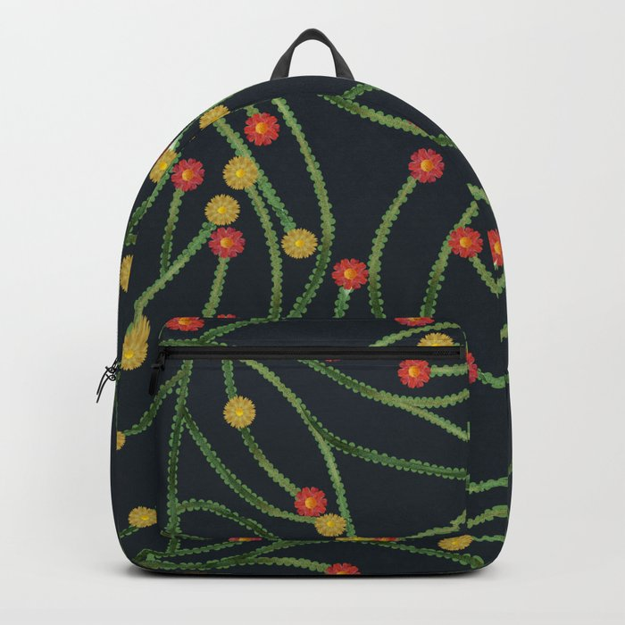 Yellow & Red Flowers Backpack