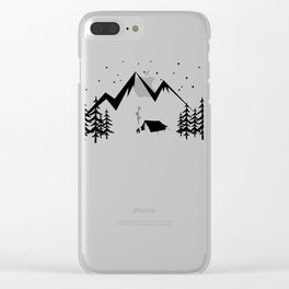 Camping Shirt I Outdoor Nature Travel Backpacker Clear iPhone Case