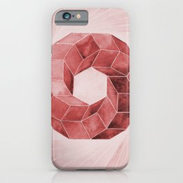 Watercolor Red Impossible Polyhedron  iPhone Case