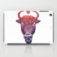 bison iPad Cases featuring bison by adi katz