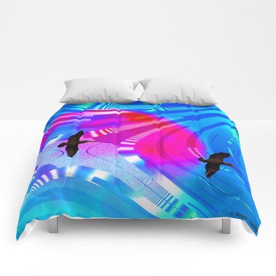 Flight of the Pelicans Comforters