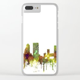 Jacksonville, Florida Skyline SG - Safari Buff Clear iPhone Case