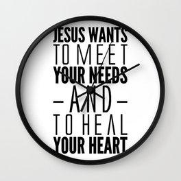 What Jesus Wants Wall Clock