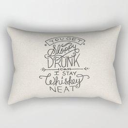 ...I Stay Whiskey Neat Rectangular Pillow