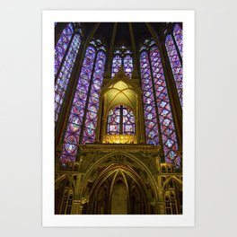 Stained Glass Sainte-Chapelle Art Print