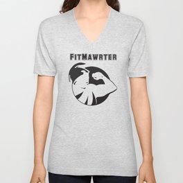 FitMawrter Design in Black Unisex V-Neck