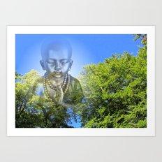 Bluesky Buddha Art Print