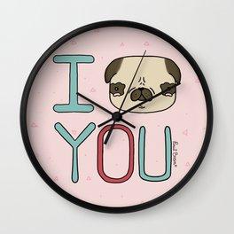 I (Pug) You Wall Clock