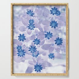 Blue flowers Serving Tray