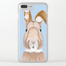 Wisteria Rabbit Clear iPhone Case