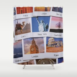 Photos of travel destinations Shower Curtain