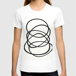 Come Together - Black and white, minimalistic, abstract, art print T-shirt