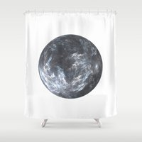 planet Shower Curtains featuring Planet by Design Art Helvetica and Abstract Art, m