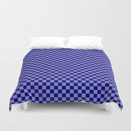Navy Blue Checkerboard Pattern Duvet Cover
