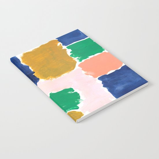 Shel - abstract painting boho modern bright minimal color palette gender neutral dorm college decor Notebook