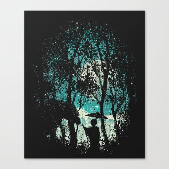 The Bear And The Geisha Canvas Print