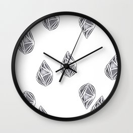 Hand stamped abstract pattern Wall Clock