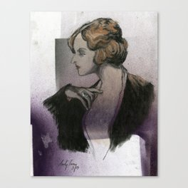 Woman with a Ring Canvas Print