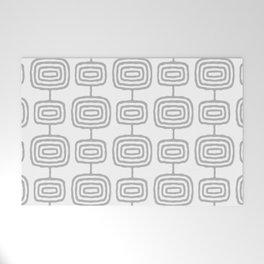 Mid Century Modern Atomic Rings Pattern Gray 3 Welcome Mat