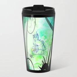 Unicorn Gemini: Blue Travel Mug