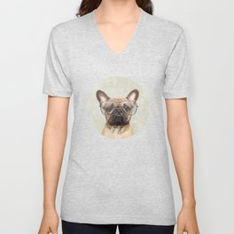 Mr French Bulldog Unisex V-Neck