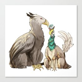 Eagle and Peacock Griffins Canvas Print