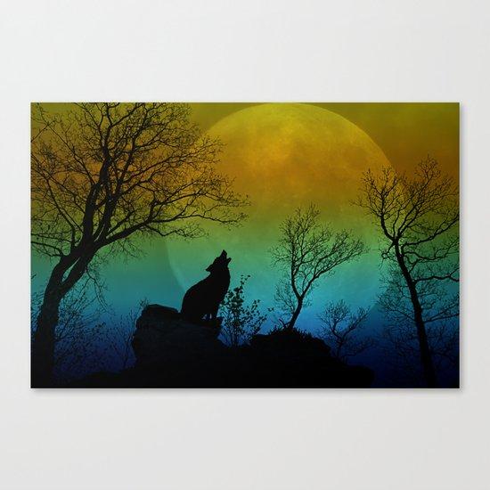 Howling wolf II Canvas Print