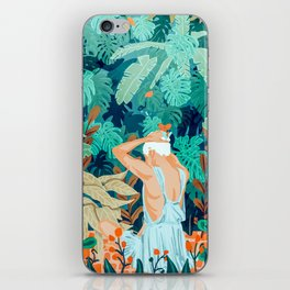 Backyard #illustration #painting iPhone Skin