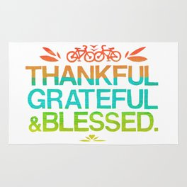 Thankful, Grateful & Blessed 2 Rug