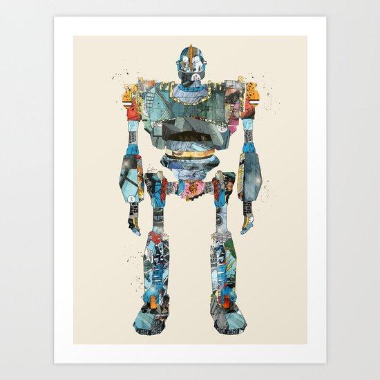 modern iron giant Art Print