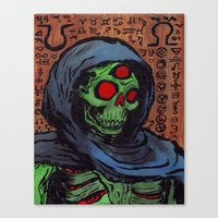 occult Canvas Prints featuring Occult Macabre by Chris Moet