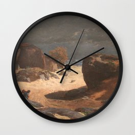 Jules Laurens - Chemin des Sables in Fontainebleau, Storm Effect Wall Clock