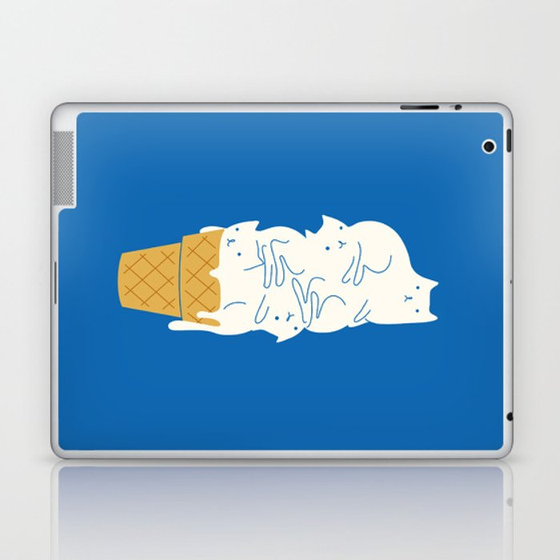 Cats Ice Cream Laptop & iPad Skin