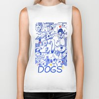 dogs Biker Tanks featuring Dogs✧ by Natali Koromoto