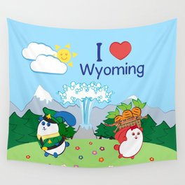 Ernest and Coraline | I love Wyoming Wall Tapestry